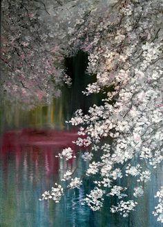Cherry blossom by Olga Kuskova-Ovsepian