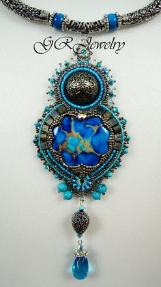 Silver Turquoise Necklace by LiaReed on Etsy, $175.00