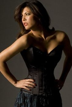 Vollers Sweetheart Black Satin Corset V1808 - or this one - in crimson red!!