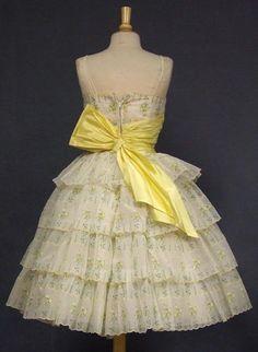 Back view vintage dress 1950s