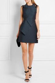 Torrens lace-trimmed organza mini dress