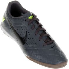 Chuteira Nike Beco 2 Indoor Futsal Masculina Cinza / Verde