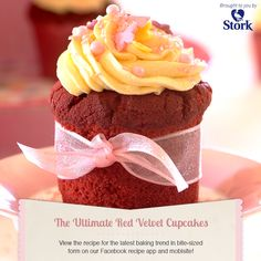 Red Velvet Cupcakes- straight from the Stork Website :) Brownie Recipes, Cupcake Recipes, Baking Recipes, Dessert Recipes, Stork Recipes, Cupcake Bakery, Cupcake Art, Cupcake Frosting, Cupcake Ideas