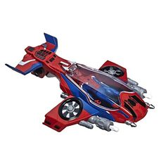 Buy Spider-Man: Spider-Jet - Vehicle Playset at Mighty Ape NZ. Spider-Man flies above the city, swinging by a web from his Spider-inspired jet! Imagine web-slinging action with the Spider-Jet vehicle toy and Spid. Spider Man Fly, Spider Man New Suit, Figurines D'action, Marvel Avengers, Ben 10 Action Figures, Iron Man, Films Marvel, Miles Morales Spiderman, Lego City