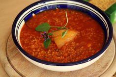 Paradajková polievka s bulgurom
