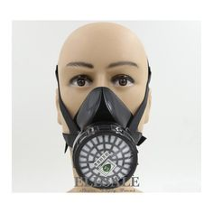 8.29$  Buy here - http://alia7a.shopchina.info/go.php?t=32741291441 - New Industrial Dust Gas Mask Respirator Chemical Gas Filter Half Face Mask For Painting Organic Vapours Work Safety  #buyininternet
