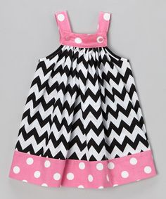 Take a look at this Black & Pink Zigzag Jumper - Toddler & Girls by Nikkiloo on #zulily today!