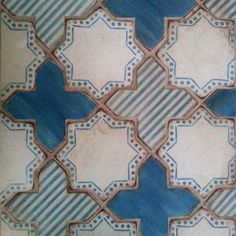 Tabarka Coreto blue & white hand painted star and cross deco Tile Design, Pattern Design, Mesa Exterior, House Tiles, Moroccan Style, Textile Patterns, Textiles, Mosaic Tiles, Tiling
