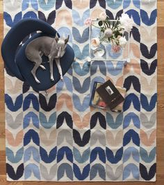 Our home design ideas perfect for your Denver Broncos-viewing spaces. Score!  TULIP BELIZE FINE FLAT WEAVE RUG, 5' x 8', Aimee Wilder, $660