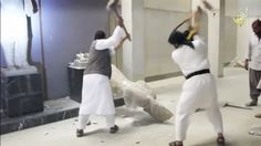 Watch: Islamic State militants smash ancient, irreplaceable artifacts with sledgehammers