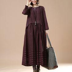 Women cotton loose long sleeve