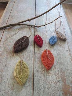 Yarn Leaf Mobile Craft