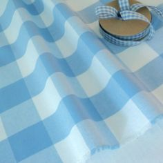 GINGHAM CHECK FABRIC 100% cotton 150cm wide, blue,red, baby pink, yellow, cerise | eBay