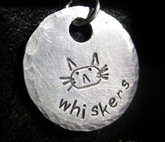Hand+Stamped+Cat+Face+Tag+by+AnotherDayBoutique+on+Etsy,+$12.00