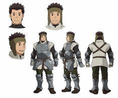 Grimgar of Fantasy and Ash Anime - Fukushi Ochiai (Ace of Diamond: Second Season's Kōji Tamaki) as Moguzo Character Model Sheet, Character Poses, Character Modeling, Character Creation, Character Development, Character Concept, Character Art, Concept Art, Fantasy Characters