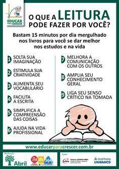 O que a leitura pode fazer por você – Educar para Crescer Books To Read, My Books, Learn Portuguese, Magic Words, Reading Strategies, Student Life, Study Tips, Kids Education, Love Book