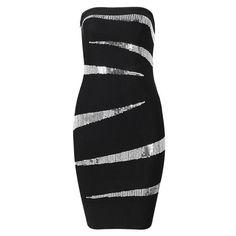 Posh Girl Strapless Sequins Bodycon Dress
