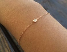 Diamond Bezel Bracelet Diamond Solitaire by charlieandmarcelle