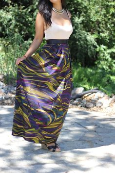 Discover this look wearing Green Silk Maxi Skirt Selves, Made DIY Skirts, White Cami Forever 21 Shirts tagged maxi skirt - DIY Maxi Skirt by tightsandtea styled for Casual, Everyday in the Fall Diy Maxi Skirt, Maxi Skirt Tutorial, Dress Skirt, Maxi Skirts, Maxi Dresses, Diy Clothes Videos, Clothes Crafts, Sewing Clothes, Modest Fashion