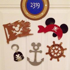 Mickey Pirate Night Disney Cruise Stateroom Door Magnets