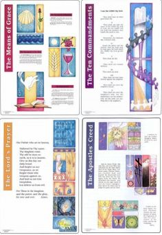 "Luther's Small Catechism in Illustration Set $35  23"" x 32"""