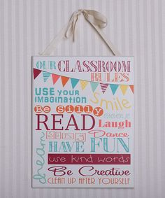 Look what I found on #zulily! 'Our Classroom Rules' Sign by Adams & Co. #zulilyfinds