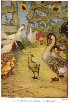 Illustration by Milo Winter for Hans Christian Andersen's Fairy Tale 'The Ugly Duckling' (1916)