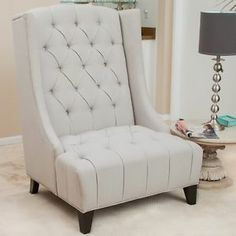 From The Well Padded Tufted Back To The Wide Seat Design, The Miles Tall  Wingback Accent Chair Is The Perfect Addition To Any Living Room Or Family  Room.