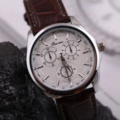 Watches Men Luxury Brand Beinuo Quartz Watches Men Leather Watch Casual Wristwatch Male Clock relojes hombre