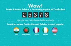 Pratim Ramesh Relekar is becoming popular @touchtalent.com