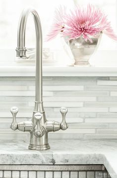 Faucet. Bar Faucet Ideas. This is a Perrin & Rowe faucet. #Faucet #PerrinRowe