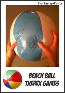 Beach Ball Therex Games  - Pinned by @PediaStaff – Please Visit  ht.ly/63sNt for all our pediatric therapy pins