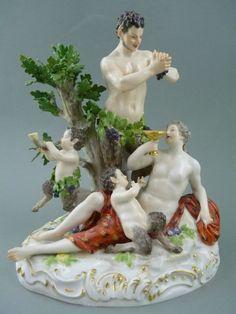 große Bacchantengruppe Faune Satyr + Frau Figur H.23cm Meissen 1.Wahl 19.Jh. in Antiquitäten & Kunst, Porzellan & Keramik, Porzellan | eBay!