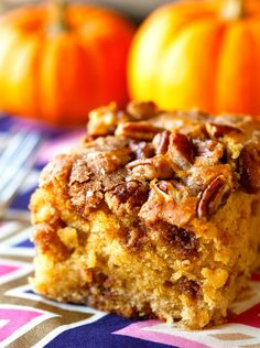 Ingredients: Serves: 12  For the Crumble Topping: 1/2 cup cold unsalted butter, cut into pieces 1/2 brown sugar 1/3 cup all-purpose flour 2 teaspoons pumpkin pie s