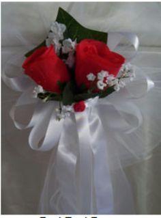 rode rozen en strik