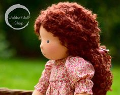 """16"""" Waldorf Doll, Chestnut Brown hair, Willow (made to order )"""