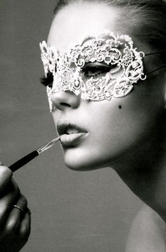 I wish we could wear pretty masks all the time!