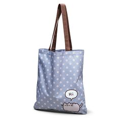 "The Pusheen Canvas Tote Bag not only gives you a handy way to carry your donuts during all your catventures - it lets Pusheen say ""Hi"" to all the passersby so that you can shop peacefully as an introvert."