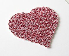 Unusual Framed Picture Quilling Quilled Heart by PaperParadisePL