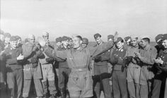 (1/2) In a not-so-serious moment, members of the 'Free Arab Legion' mingle with their Luftwaffe comrades in Italy.
