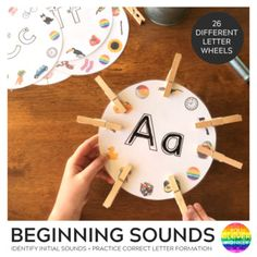 Designed for young children who are learning to differentiate between initial letter sounds. Featuring both upper and lower case letter on an A4 page, each circle focuses on a single letter and sound. Children can firstly trace the outline of both letters using just their finger or laminate each cir... Jolly Phonics Activities, Eyfs Activities, Alphabet Activities, Letter Sound Activities, Alphabet Phonics, Alphabet Sounds, Phonics Sounds, Sounds Of Alphabets, Initial Sounds