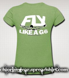 Great shirt for a Butterfly swimmer, this one in a great heather style material, other choices available. Get one today at chlorinegear.com.  See more, click this: #chlorinegear !