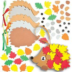 Leafy Hedgehog Decoration Kits Bulk Pack