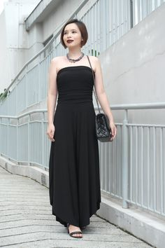 Little Black Jumpsuit. Read about my styling ideas at PrudencePetiteStyle.com