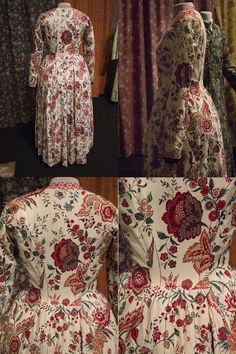 My second post about the exhibition 'Sits – katoen in bloei' (Chintz – cotton in bloom) in the Fries Museum! My first post was about color and patterns, and before that I wr… 18th Century Dress, 18th Century Costume, 18th Century Clothing, Vintage Textiles, Vintage Quilts, Motif Floral, Floral Prints, Historical Costume, Fashion History