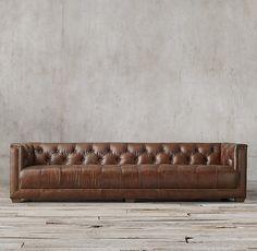 Savoy Leather Sofa - Restoration Hardware