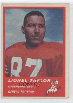 Lionel Taylor COMC REVIEWED Good to VG-EX Denver Broncos (Football Card) 1963 Fleer #82 by Fleer. $10.50. 1963 Fleer #82 - Lionel Taylor COMC REVIEWED Good to VG-EX
