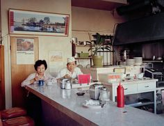 Helen and her husband, Chester, at the Helen Cafe, 486 6th Street, 1980 | Janet Delaney
