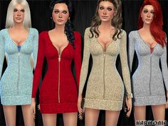 Harmonia's Slinky Metallic Padded Dress