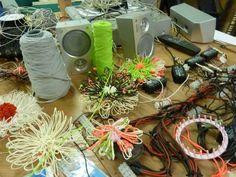 Threads and Yarns workshop: http://wellcometrust.wordpress.com/2011/07/06/threads-and-yarns/